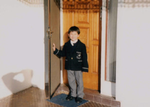 Paul on his first day of school.